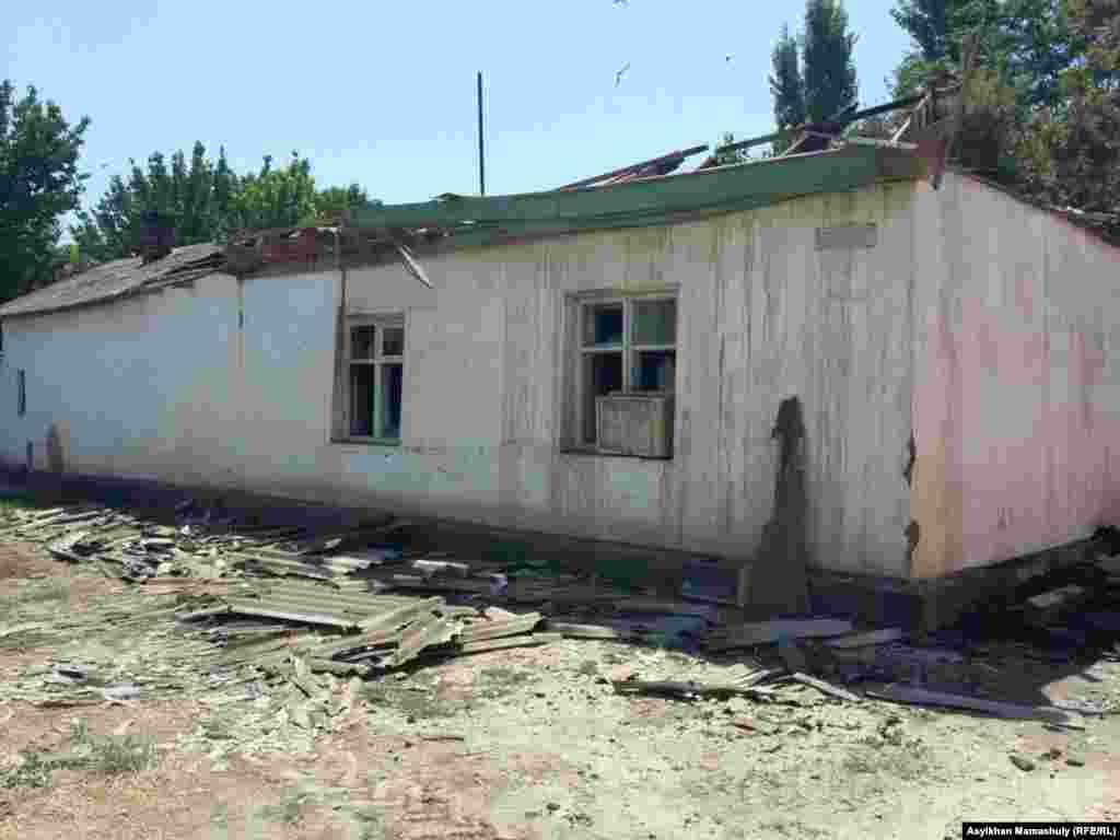 Еще один дом, пострадавший в ночь на 2 августа.