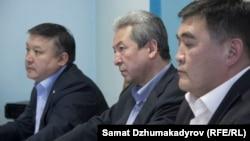 Ахматбек Келдибеков, Адахан Мадумаров и Камчыбек Ташиев