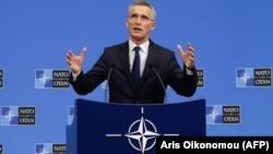 NATO-nun baş katibi Jens Stoltenberg, 27 iyun, 2019, Brussels