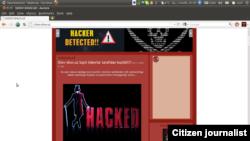 Hakerlar tarafidan o'zgartirilgan shov-shuv.uz sayti.