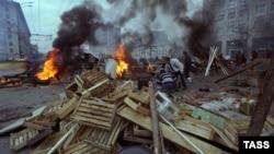 Баррикады на Садовом кольце. 3 октября 1993 года