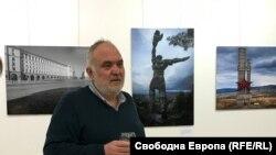 Антони Георгиев на откриването на изложбата