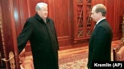 Ельцин с преемником. 31 декабря 1999