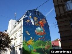 Мураль на улице Киева