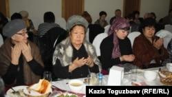 Поминовение жертв жанаозенской трагедии на 40-й день их гибели. Алматы, 24 января 2012 года.