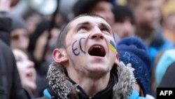 Митинг в защиту ассоциации с ЕС (Ивано-Франковск, 26 ноября 2013 года)