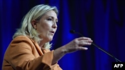 """Лидер французской крайне правой партии """"Национальный фронт"""" Марин Ле Пен."""