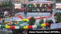 جانب من إحتفالات مهرجان اذار ونوروز في أربيل