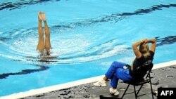 Венесуэльская пловчиха в тренировочном лагере в Шанхае