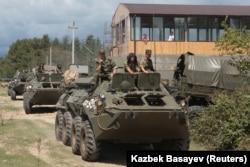 გუდაუთის რუსული ბაზის სამხედროები, 2018 წლის აგვისტო
