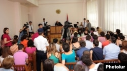 Armenia - A court in Yerevan begins the trial of a man prosecuted in connection with mass explosions of gas balloons in Republic Square, 30Aug2012.