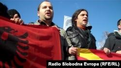 Nga protesta kundër dhunës policore ndaj shqiptarëve, Shkup, 2012