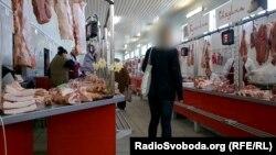Мясной ряд на симферопольском рынке