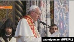 Հռոմի Ֆրանցիսկոս Պապը Մայր Աթոռում, 24-ը հունիսի, 2016թ․