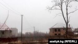 Бишкектеги Ата Түрк паркына курулуп жаткан үйлөр.