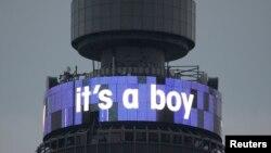 """Në pyrgun e Telekomit britanik në Londër është paraqitur mbishkrimi """"është djalë"""""""