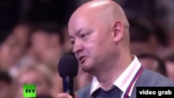 Vladimir Mamatov's sluggish delivery of his question to Putin during the press conference was the result of two strokes he survived.