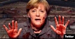 Fotografia trucată a Angela Merkel răspîndită pe Twitter de Geert Wilders