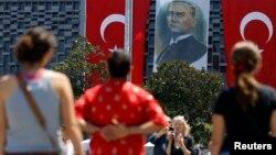 İstanbulda Taksim meydanı