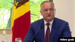 Претседателот на Молдавија, Игор Додон.