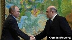 Президент Путин Владимир а (аьрру агIорхьара), Мишустин Михаил а