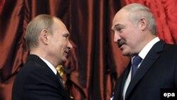 Владимир Путин и Александр Лукашенко в Кремле, 2014 год