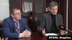 Гендиректор «Атомпроектінжинірингу» Юрій Шейко (п) та його заступник Ігор Орлов (л)