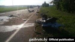 На місці аварії, 13 квітня 2018 року, фото ДАІ Брестської області Білорусі