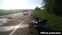 Місце аварії з мікроавтобусом із України, 13 травня 2018 року