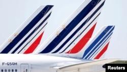 Ֆրանսիա - Օդանավեր Փարիզի «Շառլ դը Գոլ» օդանավակայանում, 24-ը մարտի, 2020թ.