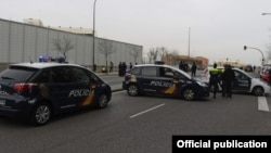 Полицейские машины в Испании. Иллюстративное фото.