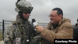 Azerbaijan -- VOA Azeri Service journalist Tapdig Farhadoglu, Baku, 12Jun2013.