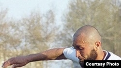 Parviz Tursunov, a Tajik football player who has allegedly been banned because of his beard.