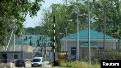 Помещения новой российской военной базы в Калининградской области.