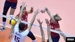 ضعیفترین نمایش ایران در دست آخر با آمریکا بود کهبا نتیجه دور از انتظار ۲۵-۱۲ باخت