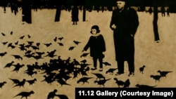 "Фрагмент картины Рината Волигамси ""Вечерняя прогулка"""