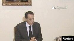 Президент Хосни Мубарак. 10 февраля 2011 г. REUTERS/Egyptian State TV.