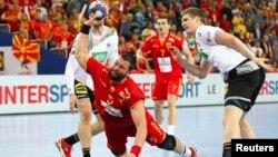 Стојанче Стоилов на натпреварот против Германија
