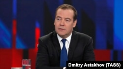 Russian ex-Prime Minister Dmitry Medvedev (file photo)