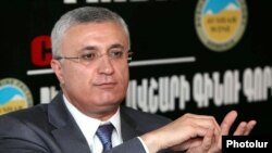 Armenia -- The chairman of the Central Election Commistion, Garegin Azarian, at a press conference, 15Jul2011