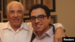 Siamak Namazi (right) and his father, Baquer (file photo).