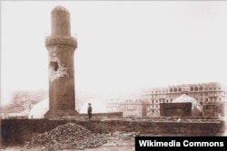 Şah məscidi 1918-ci il 31 mart hadisələrindən sonra.
