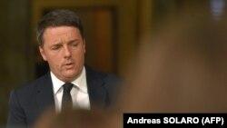 Прем'єр-міністр Італії Маттео Ренці перед оголошенням про відставку на прес-конференції в Римі, 4 грудня 2016 року