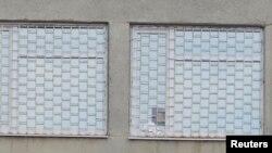 Вокны ў харкаўскім турэмным шпіталі, дзе ўтрымліваецца Юлія Цімашэнка