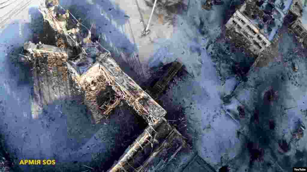 Донецкий аэропорт. Воздушная съемка. 15 января 2015 года.