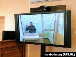 Сяргей Ціханоўскі падчас суду 1 ліпеня