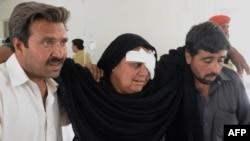 یکی از مجروحان حملات انتحاری تفتان- ۱۹ خردادماه ۱۳۹۳