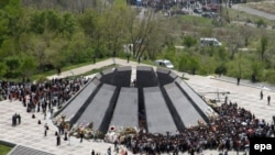 A monument to the 1915 massacre victims in the Armenian capital, Yerevan.