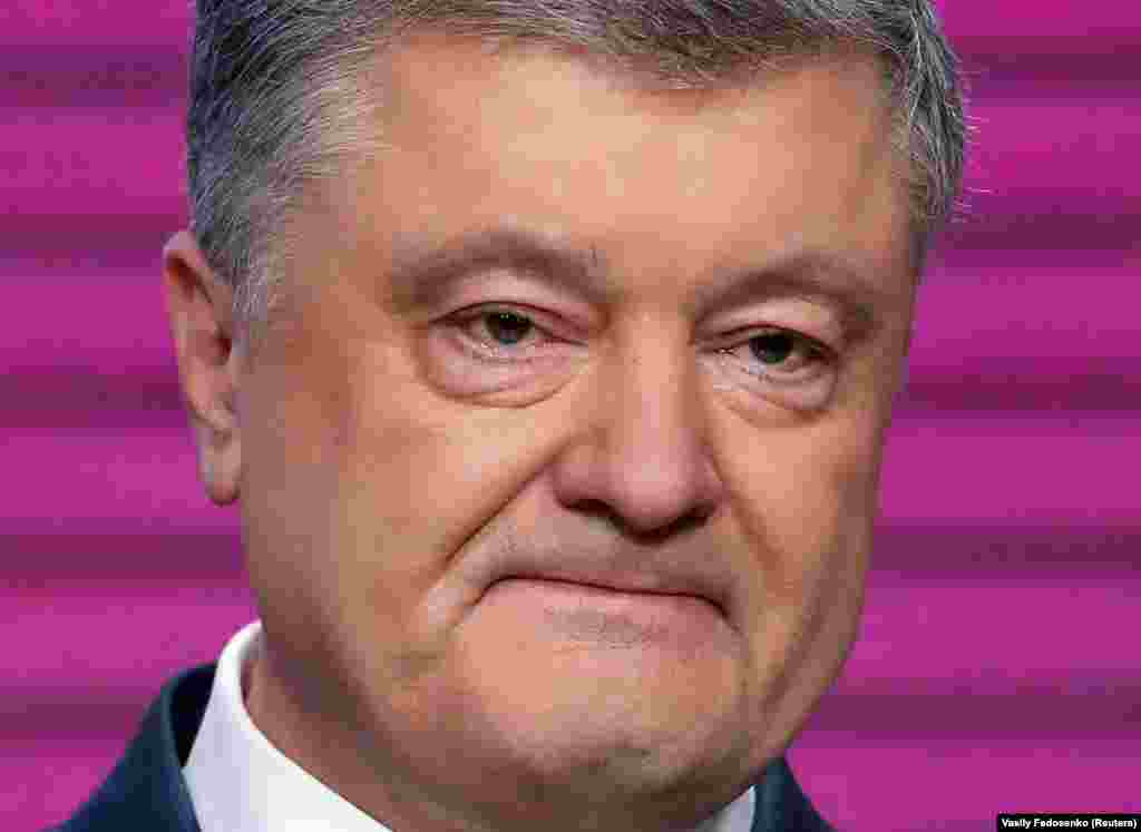 Ukrainian President Petro Poroshenko delivers a concession speech after exit polls showed him set to lose the April 21 presidential runoff vote. He congratulated challenger Volodymyr Zelenskiy on his victory and promised not to leave politics.