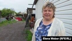 Жительница села Кокпекты Татьяна Кузнецова, пострадавшая в результате наводнения при прорыве Кокпектинской дамбы.